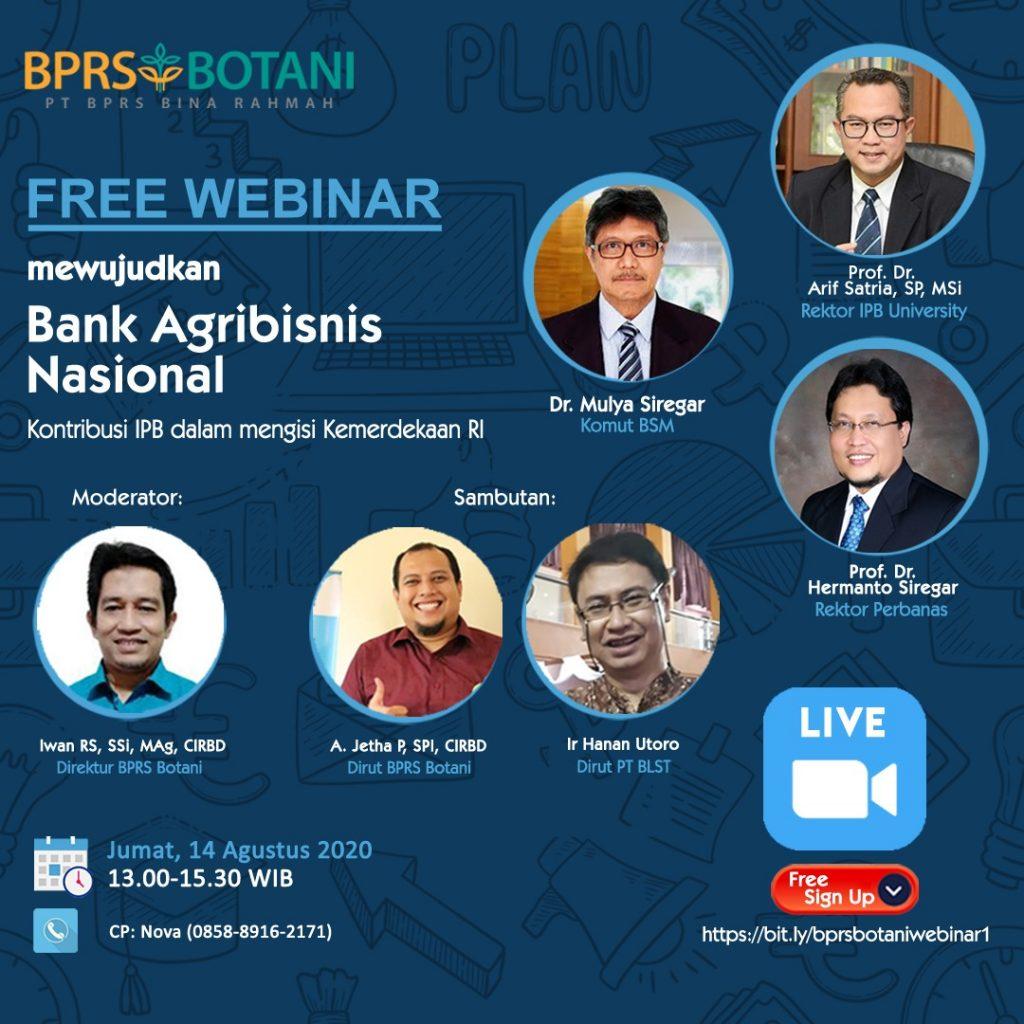 MATERI WEBINAR #1 BPRS BOTANI Mewujudkan Bank Agribisnis Nasional